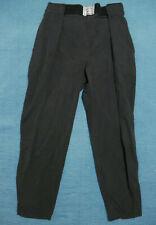 Vintage SOLID BLACK Parachute Pants Nylon Breakdancing 80s vtg Hammer Medium