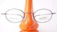 Fassung Brille Gestell super leicht 8g oval kleine Form aubergine Metall Gr M