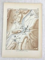 1881 Antique Military Map of Kufstein Fortress Austria Endach Austro Hungarian