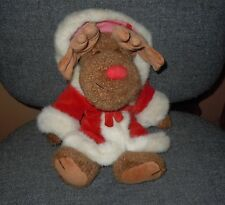 """BOYD'S CHRISTMAS SANTA MOOSE 14"""" RED HOODED ROBE THE ARCHIVE SERIES 1990"""