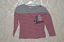 DPAM => T-shirt manches longues rayé gris rouge 4 ans MEL2
