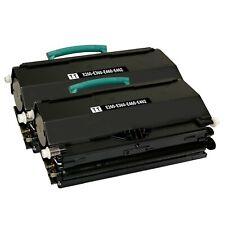 2 x Toner Cartridge for Lexmark E260A11A E260d E260dn E360d E360dn E460d E460dw