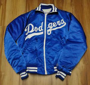 LOS ANGELES DODGERS VINTAGE STARTER BLUE JACKET SATIN MLB MEN LARGE