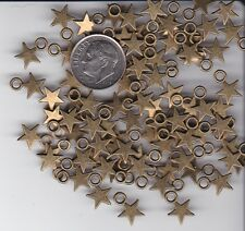 YOU GET 100 BRONZE TONE METAL STAR CHARMS. -  FROM JUNKMANRALF  U.S. SELLER  - W