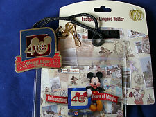 Disney* WDW - 40 YEARS of MAGIC * BOLO STYLE Pin Trading Lanyard + Medal + Pouch