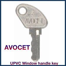 1 x AVOCET UPVC WINDOW HANDLE LOCK KEY - IS YOUR WINDOW LOCKED WITHOUT A KEY???