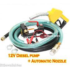 NEW 12v Diesel Fuel Transfer Pump 11 GMP W/ Automatic Nozzle +12' Hose