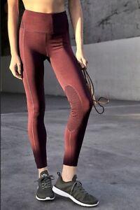 Free People Movement Legging Refine Hi Rise Breathable Mesh Detail Purple S NEW