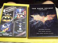 (8) Batman The Dark Knight DVD Lot: (4) Batman Dark Knight Trilogy   vs Superman