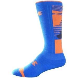 Under Armour UA CG Youth L 1-4 Snowsports Over Calf Socks Blue U609 FAST! E63