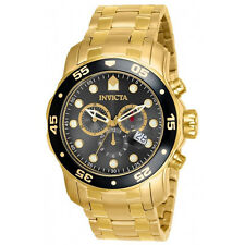 Invicta 80064 Men's Pro Diver Gold Plated Steel Chrono Dive Watch