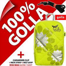 Golla Universal Compact Digital Camera Case Bag+Strap Lime for Fuji Sony Samsung