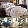 Chic Home Talia 3 Piece Duvet Cover Set Reversible Pinch Pleat Print Bedding