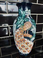More details for old tupton ware peacock design vase 8 3/4