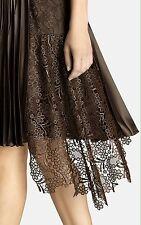 EXQUISITE Karen Millen LACE Pleated Dress Uk 14