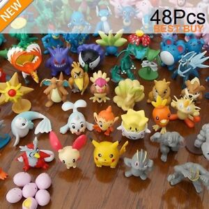 New 24pc/48pc Pokemon Action Figures Pockit Monster Toys Kids Presents Gifts UK.
