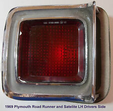 1969 Plymouth Road Runner & Satelite (L-H Drivers Side) Tail Light Assembly