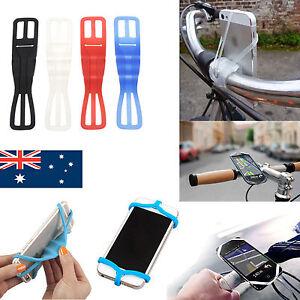 Elastic Silicone Mobile Phone Holder for Bicycle Motorcycle Bike Handlebar Mount