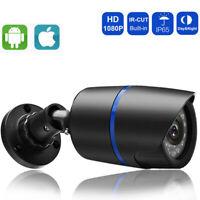 HD 1080P/3MP IP PoE Camera Security Outdoor Bullet ONVIF Audio Black Camera