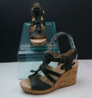 Sperry Wedges Size 6 Grey Leather
