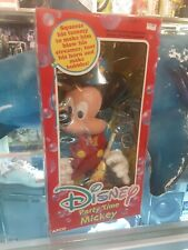 Vintage Arco Disney Party Time Mickey Mouse Vinyl Doll with Bubble Blower Horn