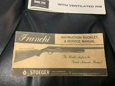 Vtg 1965 Original Franchi Shotgun Owner's Guide Manual Stoeger 12ga Eldorado