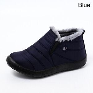 Women's Waterproof Winter Snow Boots Fur-lined Slip On Warm Outwear Ankle Shoes
