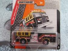 Matchbox 2016 #077/120 PIERCE DASH black gold fire tender HEROIC RESCUE Case B