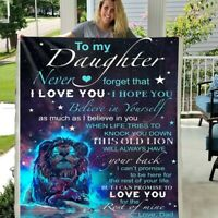 TO MY DAUGHTER NEVER FORGET THAT I LOVE YOU  FLEECE  BLANKET