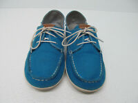 Olukai Heleuma Blue Canvas Lace Up Comfort Shoe Size Women's 8/38