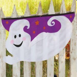 1 Halloween Yard Outdoor Indoor Swag Garland Friendly Purple Ghost 3FT Wide