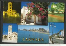 John Hinde Colour Multiview Postcard Greetings From Larnaka Cyprus posted