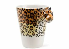 More details for leopard gift, coffee mug handmade by blue witch