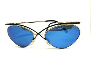 ESSENCE Sunglasses Vintage Ages 80 Made IN Japan Retro Man Women's Gold