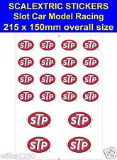 Slot car / Scalextric stickers Model Race STP Logo Lego self adhesive vinyl