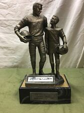 Michael Ricker The Legend Lives Johnny Unitas Pewter Statue. Signed By Johnny.