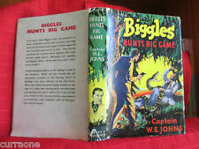 BIGGLES HUNTS BIG GAME 1950 hardcover with jacket WE Johns  STEAD