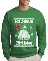 Ugly Christmas Sweater Go Jesus it's Your Birthday Sweatshirt Gift Idea