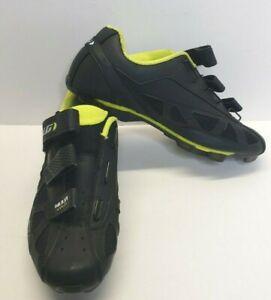 Garneau Men's 11.5 HRS-80 Blk/Bright Yellow Multi Airflex Cycling Bike Shoes