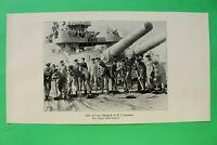 UM2) Marine S.M.S. HANNOVER Achterdeck 1914-1918 Kriegsschiff Geschütze WWI 1.WK