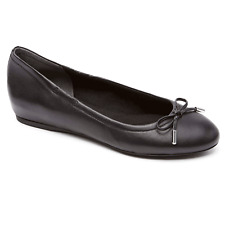 Women's Rockport Tied Ballet Flat Black US 9 Medium
