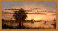 Floride sunrise Martin Johnson Heade usa Amérique lever du soleil bateau B a1 02859