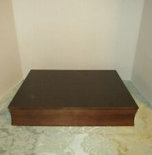 Flatware Case Wooden Silverware Storage Chest Silverplate Anti Tarnish VTG Wood