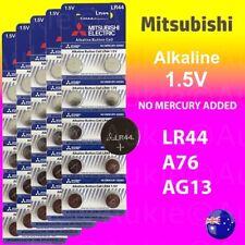 50 x LR44 Mitsubishi 0%Hg Battery Genuine 1.5V A76/AG13 Alkaline Batteries 30+20