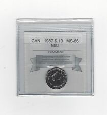 **1987**, Coin Mart Graded Canadian,  10  Cent, **MS-66 NBU**