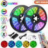 50FT 15M RGB 5050 Flexible LED Strip light SMD 44 Key Remote 12V Power Full Kit