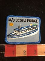 Vintage M/S SCOTIA PRINCE Cruise Ferry Boar Ship Operator Advertising Patch 99Y7