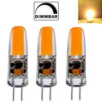 3x G4 LED 2W 12V AC/DC COB warmweiß Stiftsockel Leuchtmittel Lampe Birne Dimmbar