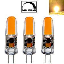 3x G4 LED 2 Watt 12V AC/DC COB warmweiß A++ Leuchtmittel Lampe Birne Dimmbar