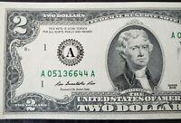 "1 Billet de 2 US Dollars ""Repeater"""